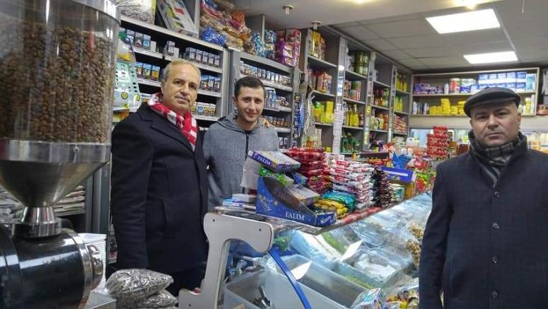 Vatan Partisi'nden Gümüşyaka ve Değirmenköy'de esnaf ziyareti