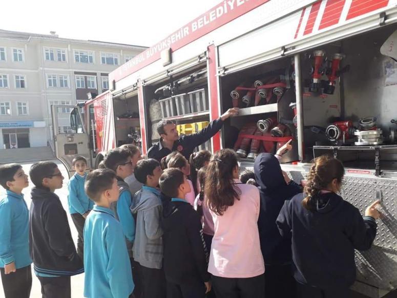 Öğrencilere, yanma ve yangın bilgisi verildi