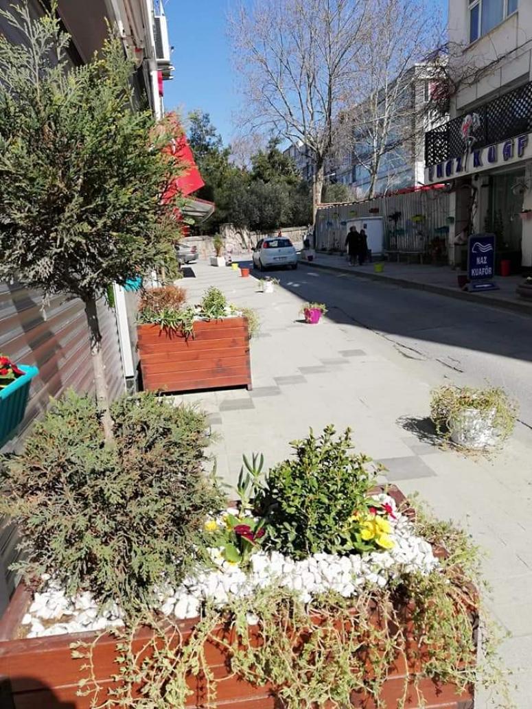 Mahalleli kendi sokağını güzelleştirdi
