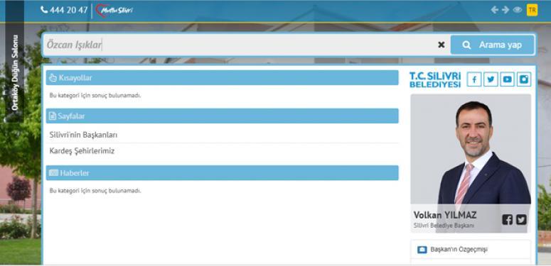 Belediyenin internet sitesi güncellendi! Işıklar ile ilgili bilgiler silindi!