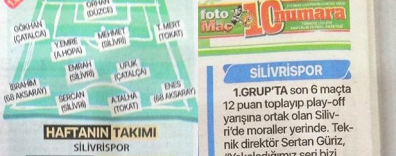 Silivrispor'un Başarısı Ulusal Basında