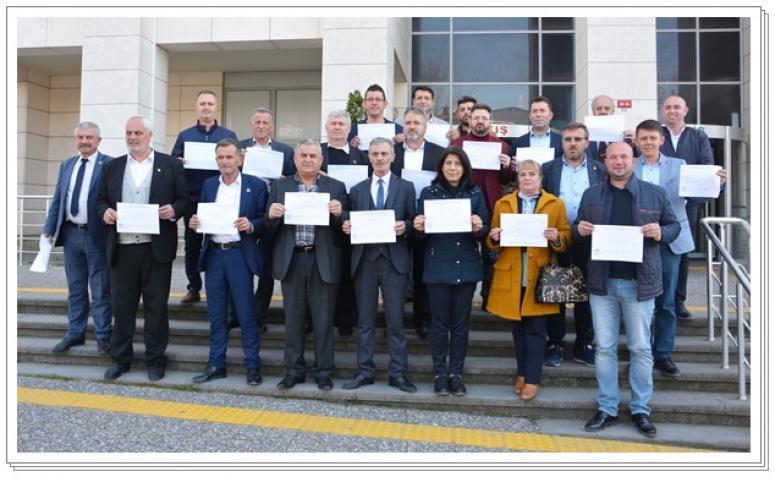 Silivri muhtarlarından Silivrispor'a destek