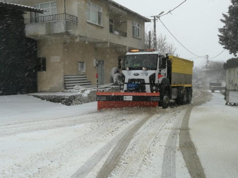 Silivri'de kar çalışmaları