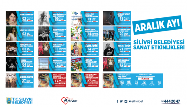 Aralık Ayı Kültür Sanat Etkinlikleri Başlıyor