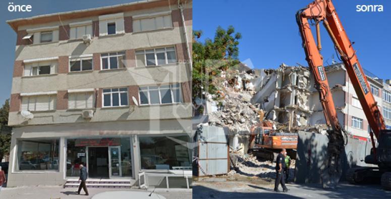Silivri'de Depremden Zarar Gören Bina Yıkıldı
