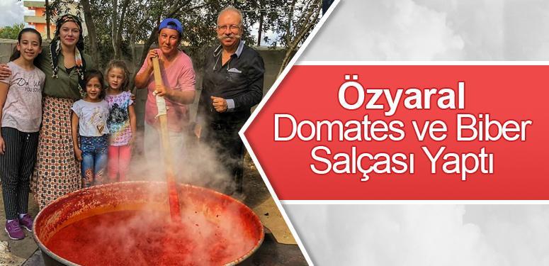 Özyaral domates ve biber salçası yaptı