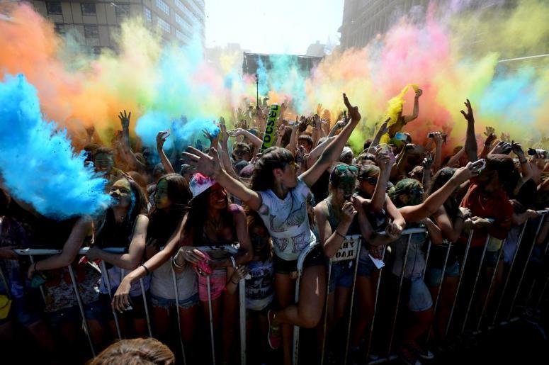 Moskovada Renk Festivali Düzenlendi
