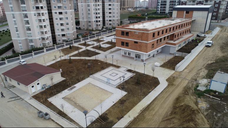 Cemevi'nde çevre düzenlenmesi tamamlandı